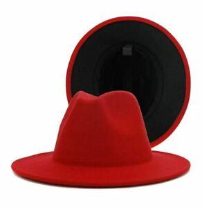Men's Two Tone Fedora Hats