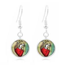 Geekery Heart glass Frea Earrings Art Photo Tibet silver Earring Jewelry #173