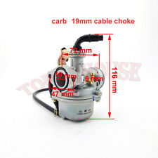 19mm PZ19 Carburateur Cable AVC Pour 50cc 70cc 90cc 110cc Go Kart Quad ATV