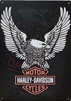 HARLEY DAVIDSON METAL TIN SIGN MOTORCYCLE PARTS GARAGE WALL DECOR