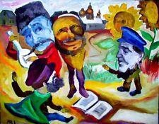 Original Fantasy Oil Painting DREAMS OF RUSSIAN PEASANT VILLAGE ARI ROUSSIMOFF
