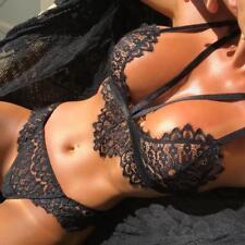 donna lingerie corsetto pizzo fiori push up maglia reggiseno + MUTANDINE
