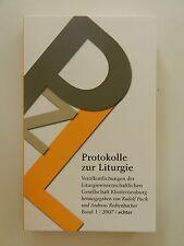 Protokolle zur Liturgie Band 1 Rudolf Pacik Andreas Redtenbacher 2007 Echter