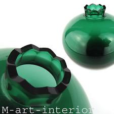 Art Déco Glas Vase Smaragdgrün Facetten Schliff Glass Jean Beck München um 1920