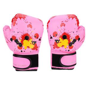 UK Baby Girls Boys Children Boxing Gloves Punch Training Kids Fight Mitts pink