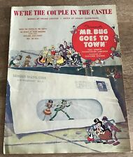 MR. BUG GOES TO TOWN FLEISCHER ANIMATED FEATURE SHEET MUSIC GREAT COVER ART VF