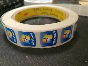 windows 7 stickers x 10 new for laptop tower pc.