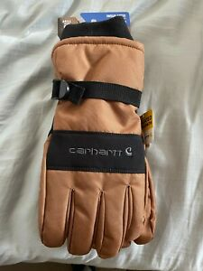 Carhartt Mens Waterproof Insulated Cold Weather Glove SZ Large New A511 Brown