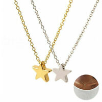 Women Chain New Simple Necklace Jewelry Long Pendant Gold Silver Star Choker