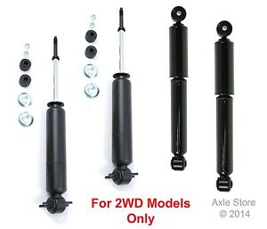 4 Shocks FULL Set New Fit Astro Safari 2WD Only Lifetime Warranty Free Shipping