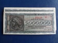 1944 Nazi German/Axis Occupied Greece 5 Million Drachma-VG Cond-19-145