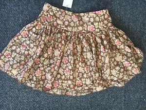 Ralph Lauren Kids Girls Autumn Fall Silk Skirt Sz 7 6 orig  $135