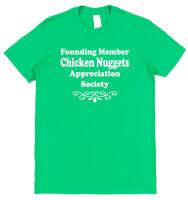 CHICKEN NUGGETS APPRECIATION SOCIETY T-SHIRT cotton funny food lover dinner