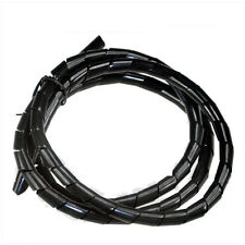 =4MotorcycleRacing= CABLE COVER WIRE COIL COVER BLACK  6MM* L-150CM MOTORCYCLE
