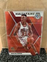 Scottie Pippen 2019 Panini Mosaic Red Wave Prizm Hall of Fame Tmall Card #292