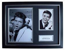 Cliff Richard Signed Autograph 16x12 framed photo mount display Music AFTAL COA