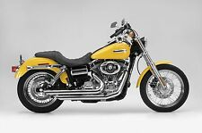 Slashers Chrome Samson Exhaust Legend Series D2-971-Harley Dyna Glide 2006-2011