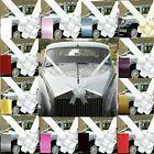 WEDDING CAR BOW AND RIBBON  DECORATION KIT 1- 3 OR 5 LARGE 7