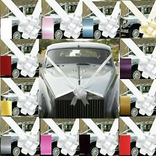 "WEDDING & PROM CAR BOWS AND RIBBON  DECORATION KIT 1- 3 OR 5 LARGE 7"" BOWS"