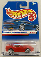 2000 Hotwheels Ferrari 550 Maranello Red Mint! MOC!