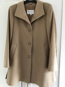 Beautiful Johnstons Of Elgin Camel Coat 100% Cashmere Size 12 Great Condition