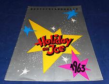 Programm + Eintrittskarte Deutschlandhalle 1963 Holiday on Ice