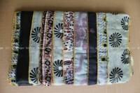 Vintage Silk Sari Fashion Scarf Wraps Stole Patchwork Stole Women Fashion Beige