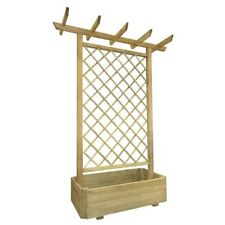 Garden Trellis Planter Pergola Wood Patio Flowers Wooden Fence Climbing Plants