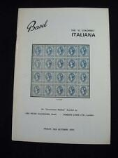 ROBSON LOWE BASLE AUCTION CATALOGUE 1970 ITALIANA THE 'G COLUMBO' COLLECTION