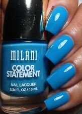 NEW! Milani Color Statement Nail Polish in WATER FRONT #24 Medium Blue