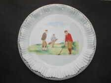 C1890S-1900 Carltonware Wiltshaw&Robinson China Teapot Stand With Golfing Scene