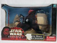 """*NEW IN BOX* SEALED Star Wars Episode 1 Darth Maul & Sith Speeder 12"""" Figure!"""