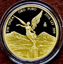 2016 1/10 oz gold Libertad Proof in plastic capsule