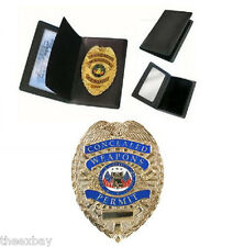 Concealed Weapons Permit Metal Badge WALLET ONLY Gold Badge NOT INCLUDED!!!