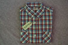 SUGAR CANE NWT MADE IN JAPAN BROAD CHECK BUTTON DOWN SHIRT OFF-WHITE SIZE XL