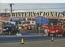 STONE WOODS COOK VS BIG JOHN AT WINTERNATIONALS    8X12 DRAG RACING PHOTO