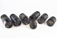 Vintage Lot of 7 Manual Focus Minolta MD Mount Camera Lenses Parts Repair V15