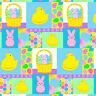 Easter Peeps Bunny Rabbit Chick Egg Basket Marcus Yellow Pink Blue Green Purple