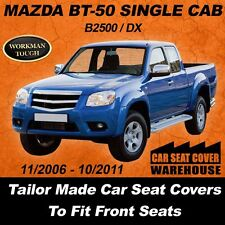Canvas Car Seat Covers MAZDA BT-50 BT50 Single Cab 2006 - 2011 Waterproof