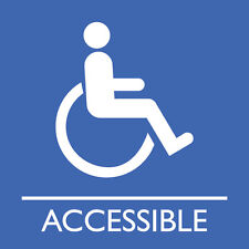 "Wheelchair accessible washroom sign 8"" x 8"""