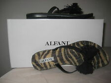 Alfani Shoes Size 6 M Womens New Daniella Flip Flop Thong Sandals Black