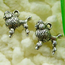 Free Ship 100 pieces tibetan silver dog charms 14x14mm #466