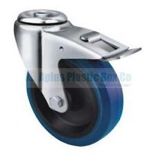 Wheel & Castor - Heavy Duty - HB,Blue 125mm Industrial Blue Elastic Rubber Bolt