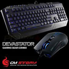 CM Storm Devastator - Blue LED Backlight Gaming Keyboard and Mouse Combo Bundle