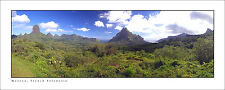 Poster Panorama Moorea French Polynesia Mount Rotui Belvedere Lookout Art Print