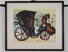 "LSSL An Expressionist Watercolor Painting from 1955 - Artist Bucher 18"" x 15"""
