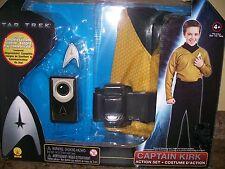 Star Trek Captain Kirk Dress Up Play Action Costume Box Set Child Size 4 - 6
