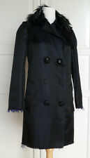 LANVIN for h&m luxueux manteau soie taille EUR 40 size US 10 UK 14 neuf new