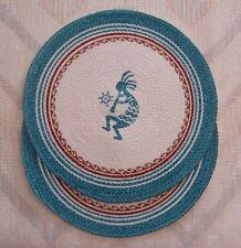 Kokopelli Placemat Set Simply Southwest Kokopelli Pattern Braided Kay Dee