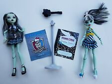 Monster High Doll  Frankie Stein 1st Wave First Striped Dress  Plaid Fearbook